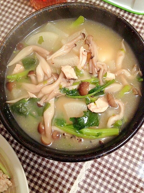 のらぼう菜と大根のお雑煮