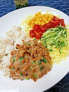 ダイエットに☆イタリアンサラダ風納豆ご飯♪