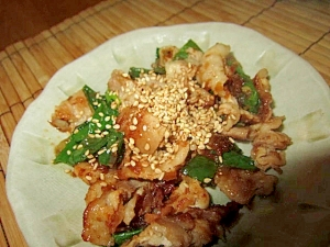 豚バラ葱野菜ソース焼き