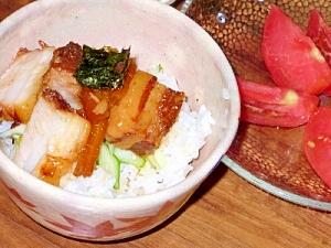 圧力鍋でとろとろミニ豚の角煮丼