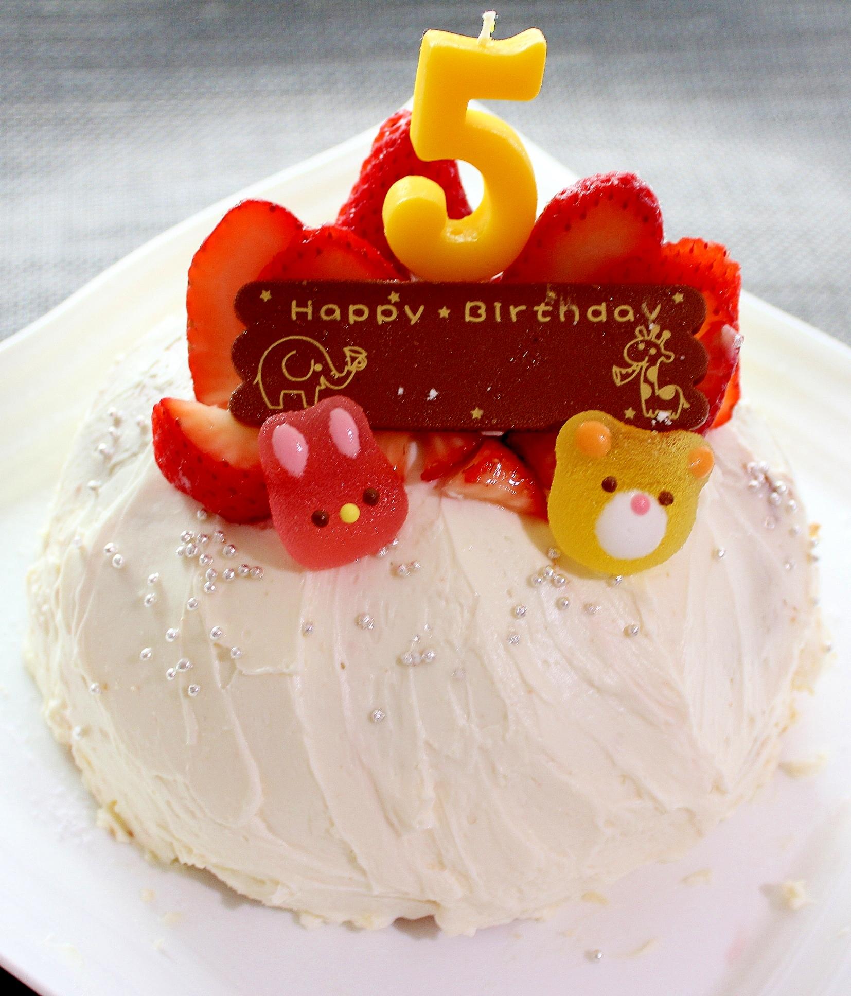 お誕生日に♪チーズクリームのバースデードームケーキ レシピ・作り方 by ラムちゃん1224 楽天レシピ