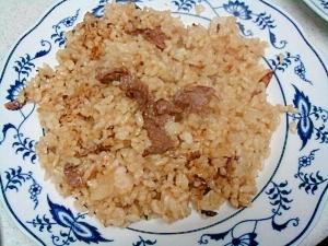 あっさり、牛肉入り玄米チャーハン