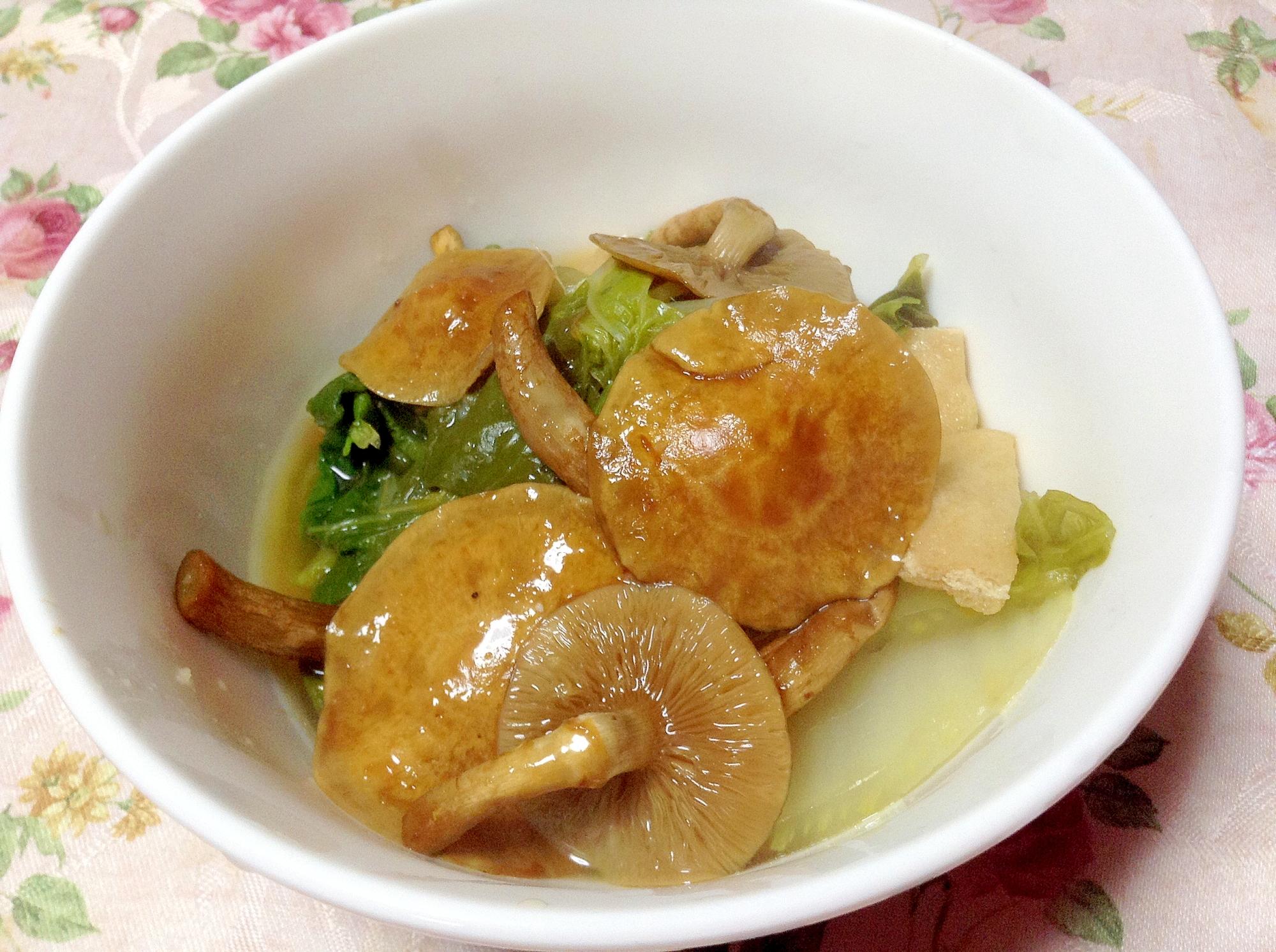とろろん♪なめこと白菜の生姜煮