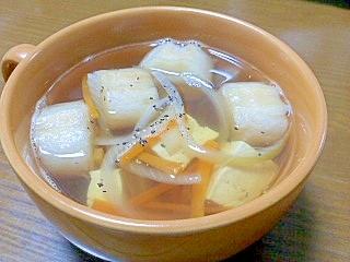 麩と豆腐と野菜のお吸い物