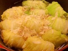 冷凍餃子で★ロール白菜