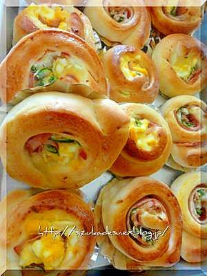 パネトーネマザーで料理パン3種類(HB)