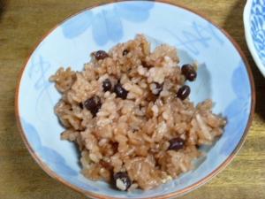 炊飯器で小豆ごはん(赤飯)
