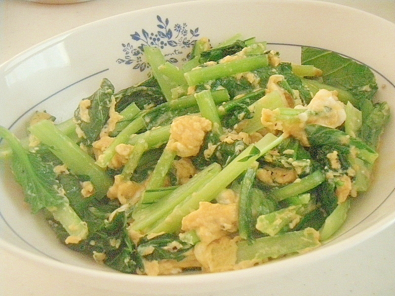 簡単★時短★小松菜のとろとろ卵炒め