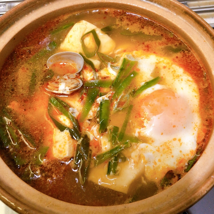 アサリの豆腐チゲ・スンドゥブ[韓国料理]