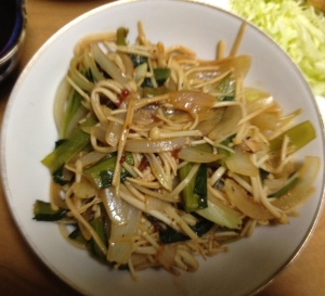 小松菜のおかか入りバルサミコ酢炒め