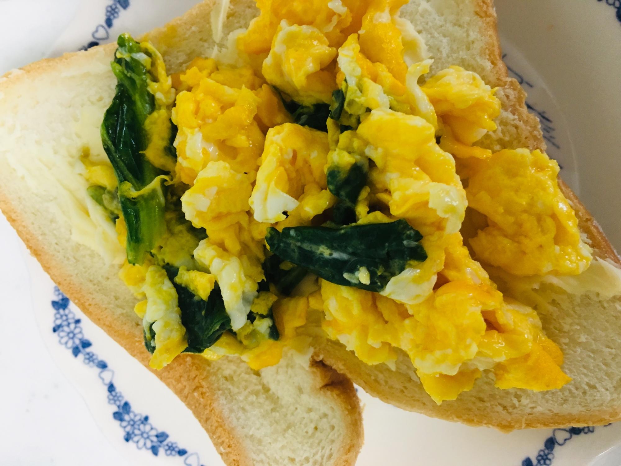 朝ごはんに♪ほうれん草卵パン レシピ・作り方
