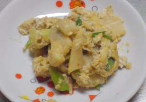 ぽかぽかしょうが入-ねぎと卵の炒め物