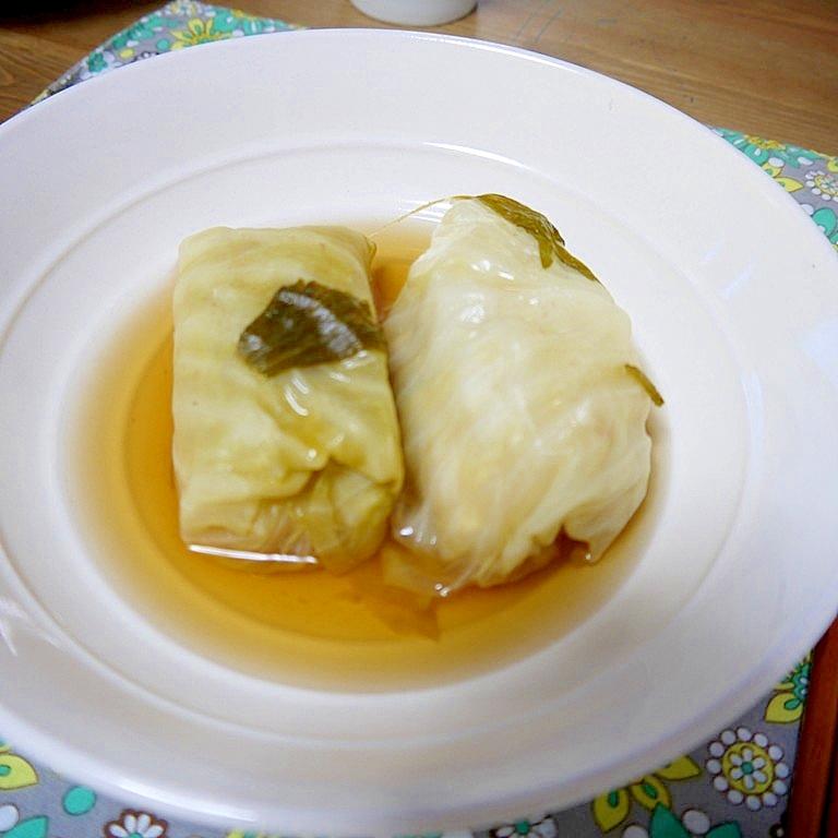 鶏・豆腐団子のロールキャベツ