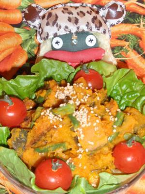 インゲンと南瓜の胡麻サラダ