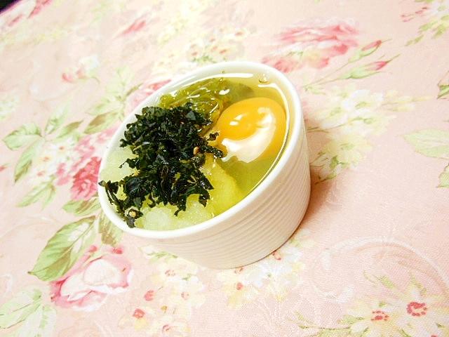 洗いもずくと紫蘇ワカメと大根おろしと卵の1品