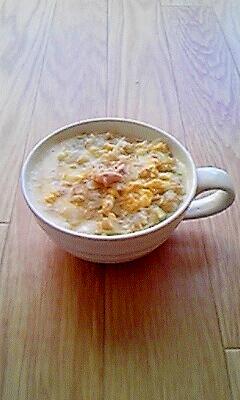 簡単☆ツナ卵生姜のオートミール粥