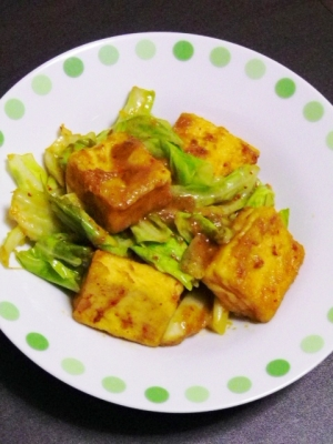高野豆腐のホイコーロー風