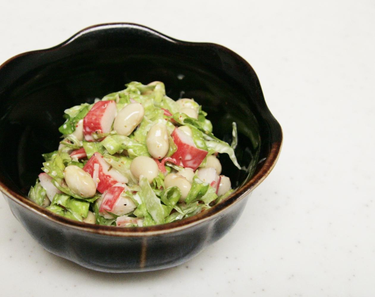 簡単おつまみ!大豆のピリ辛マヨサラダ