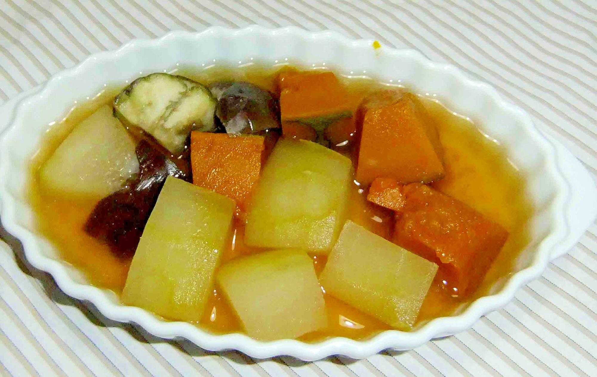 南瓜冬瓜茄子のヘルシースープ