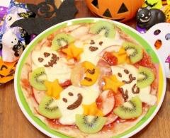 柿と林檎とモッツァレラのフルーツおばけピザ