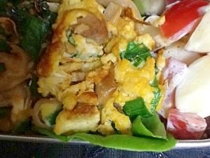 チャーシューの卵焼き