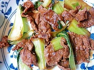 お弁当に♪牛肉とチンゲン菜のオイスター炒め レシピ  運動の