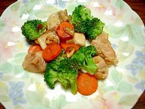 野菜たっぷり★鶏肉と温野菜のサラダ