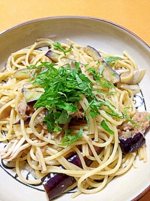 4. なすツナの和風スパゲッティ