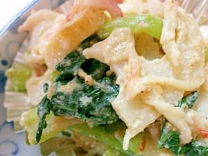 小松菜とレンコンの精進和え