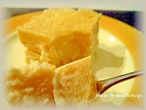 シリコンスチーマーで簡単レアチーズケーキ