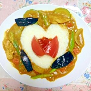 オクラとおからと豆乳と夏野菜ヘルシーカレー