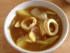 イカと野菜のスープカレー