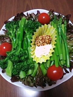 スティックブロッコリーとアスパラのサラダ♪
