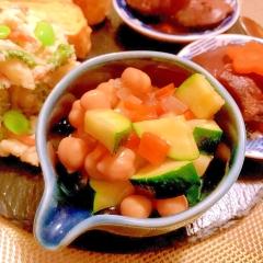 ズッキーニとひよこ豆のすっきりサラダ