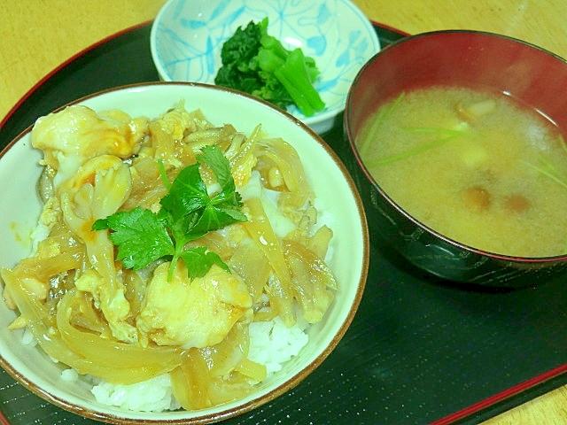 舞茸と鶏肉の親子丼定食