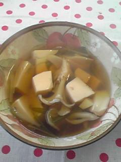 あったかとうふときのこの和風スープ