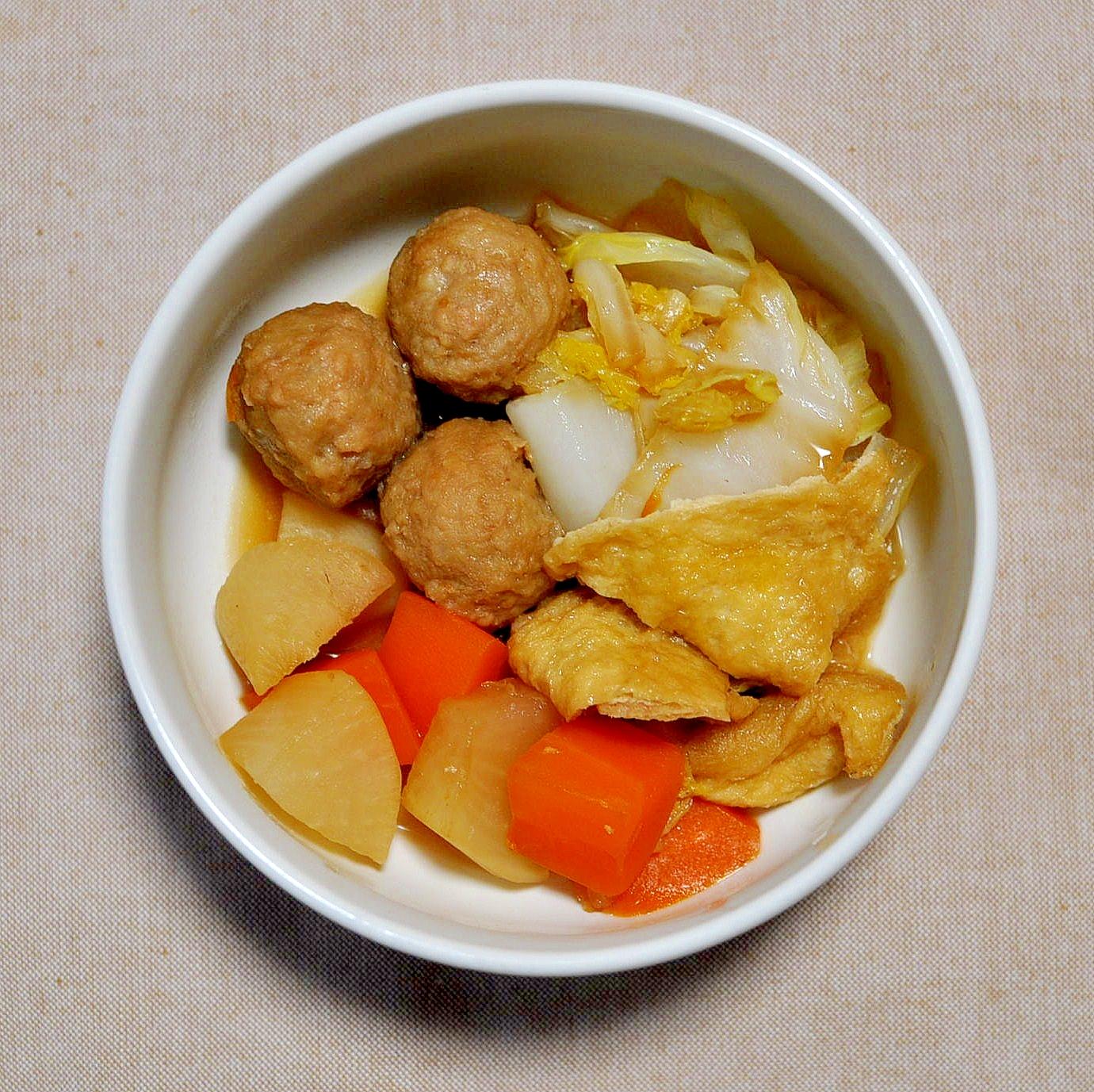 4. あり合わせで作る!鶏だんごと野菜の煮物