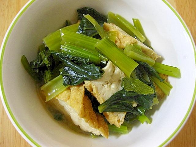 小松菜と厚揚げの炊き合わせ