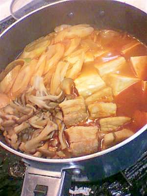 豚バラキムチ鍋