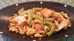 ご飯に合うケチャップ風味のゴーヤチャンプルー