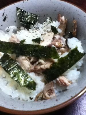 サンマとネギとノリの混ぜご飯