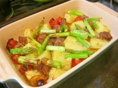 野菜と一緒に ラムと野菜のオーブン焼き
