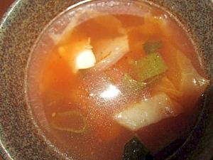 鶏肉葱きゃべつトマトスープ