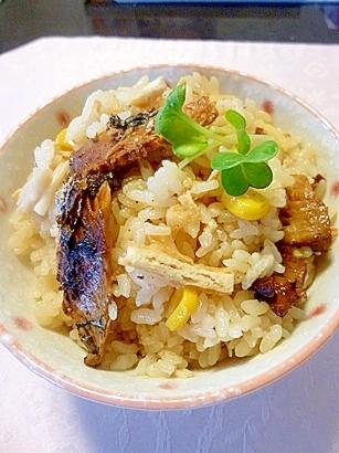 サンマ缶で簡単炊き込みご飯