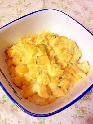 オーブンを使って、かぼちゃのホットサラダ