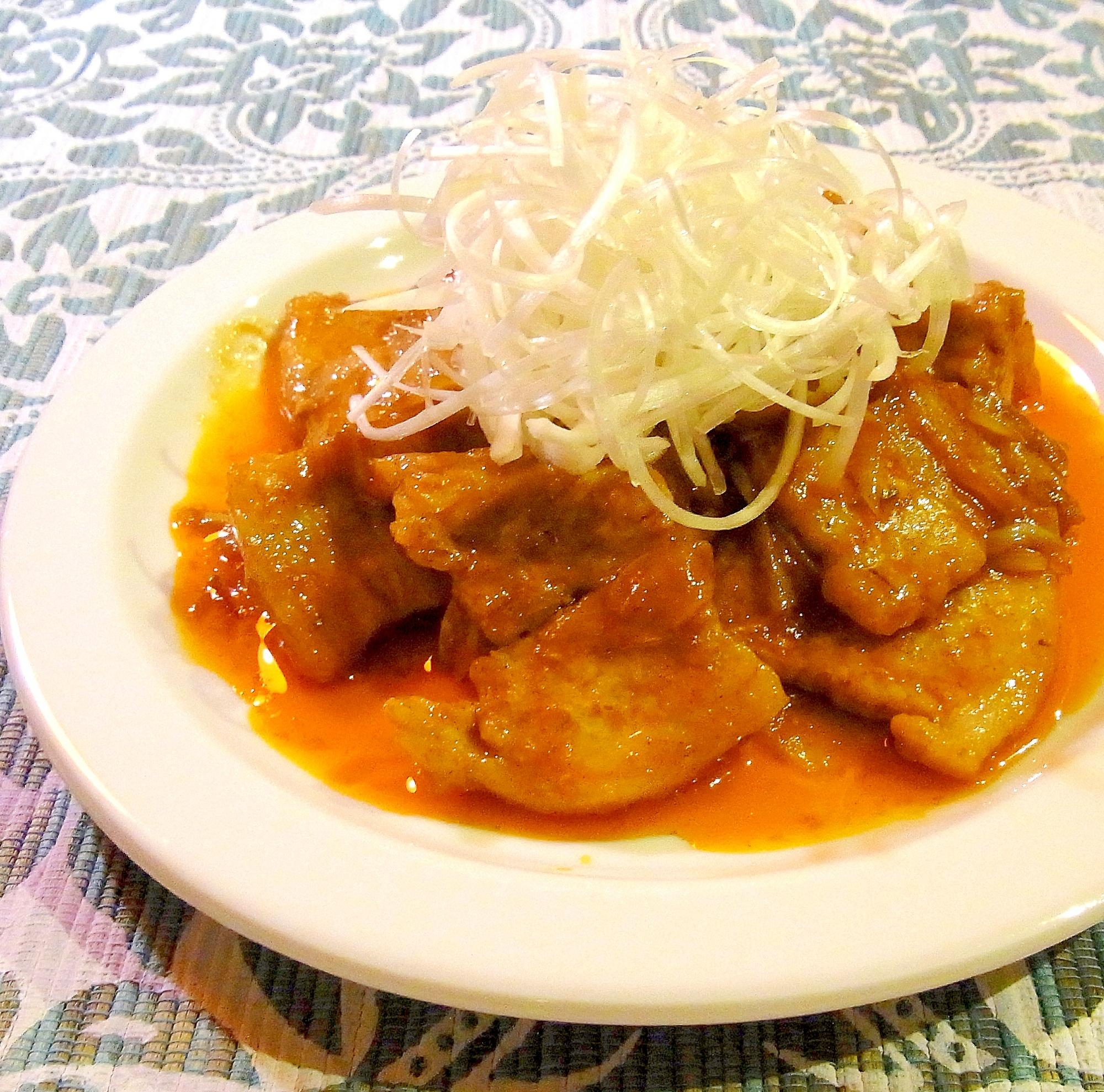 豚バラの韓国風甘辛焼き