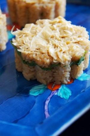 夏にはんなり精進寿司、湯葉の押し寿司