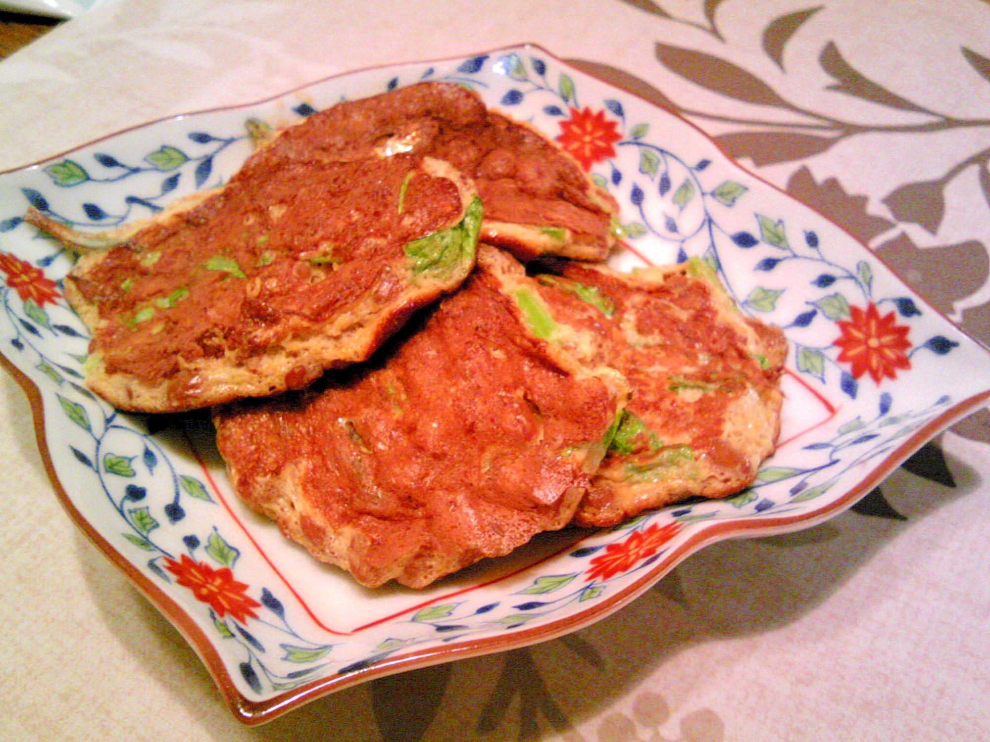 納豆・食べる小魚・小松菜の卵焼き