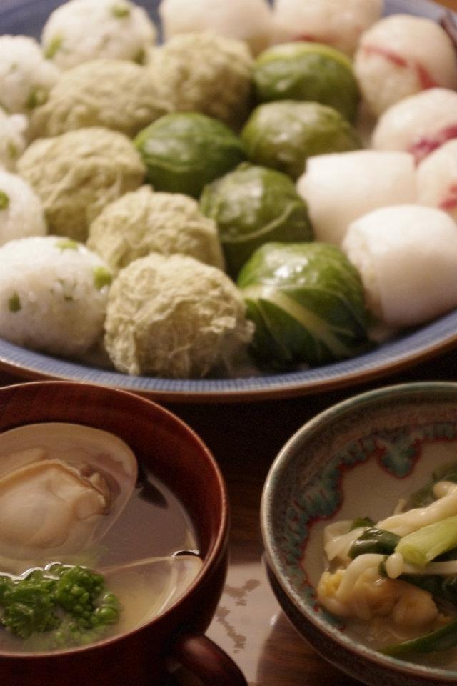 雛祭りに♪お吸い物、ぬた、手毬寿司
