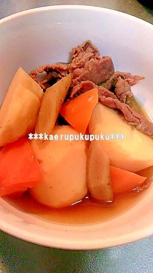 里芋と牛肉の煮物(圧力鍋使用)